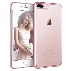 iPhone 8 PLUS - Exklusivt skydd / fodral iPhone 7 / 8 PLUS Rosa Metallic -