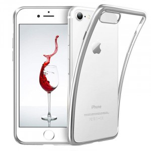 iPhone 6 / 6S - Exklusivt skydd / fodral iPhone 6 / 6S med Silverkant -