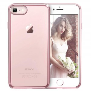 iPhone 8 - Exklusivt skydd / fodral iPhone 7 / 8 Rosa Metallic -