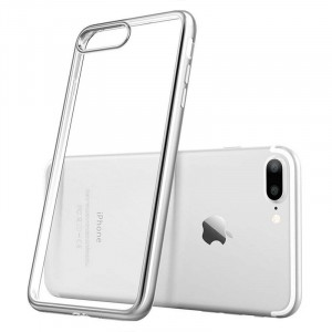 iPhone 7 PLUS - Exklusivt skydd / fodral iPhone 7 / 8 PLUS med Silverkant -
