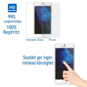 iPhone 8 PLUS - iPhone 7 / 8 Plus PRO+ Displayskydd / skärmskydd härdat glas 9H -