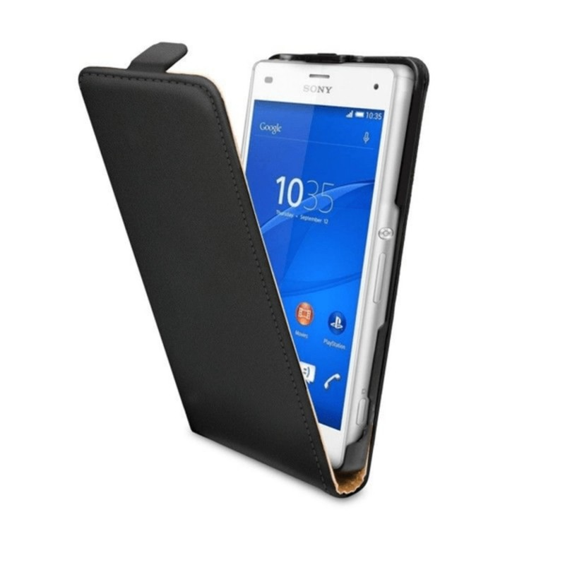 Sony Z3 Compact - Sony Xperia Z3 Compact D5803 Lyxigt Flip Fodral / Skydd / Case -